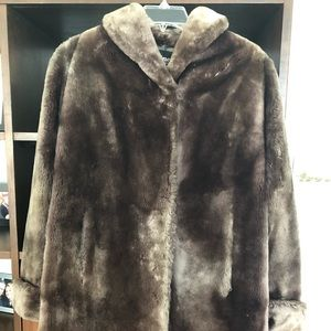 Jackets & Blazers - XL Chocolate Brown Mouton Fur Coat